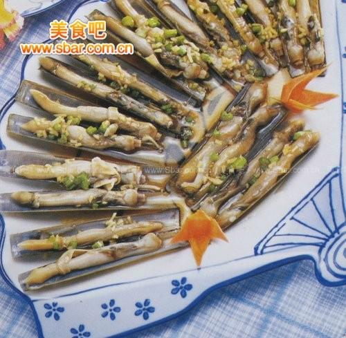 菜谱:姜汁拌海蛏的做法