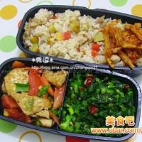 爱心盒饭143:板栗鸡肉饭+家常豆腐+炒雪里红