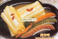 橙汁白菜的做法