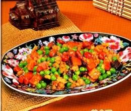 青豆炒肉碎