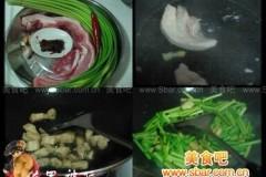 豆瓣酱炒蒜香回锅肉