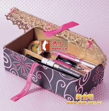 手工:华丽彩妆收纳盒diy[图解]的做法【图解】_手工