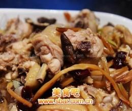 红葱头冬菇金针红枣蒸鸡