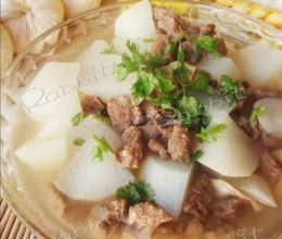 白箩卜清烧牦牛肉的做法