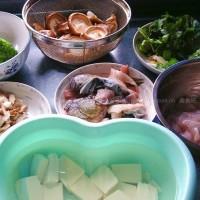 椒麻鱼片和鱼头豆腐汤