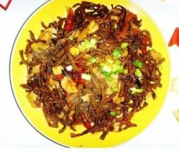 干豆角炒肉的做法
