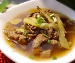老姜肉片汤的做法