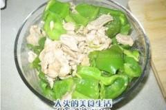 柿子椒炒肉片的做法