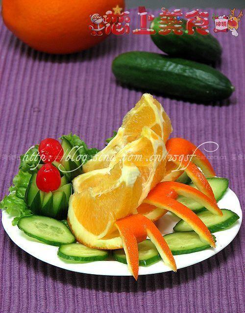 橙子的切法的做法 橙子的切法的家常做法 橙子的切法怎么做 果盘 水果