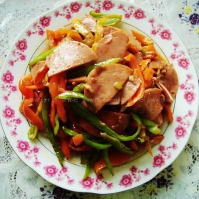 青椒炒火腿肠