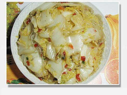 白菜炒粉条