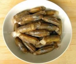 葱姜蛏子的做法
