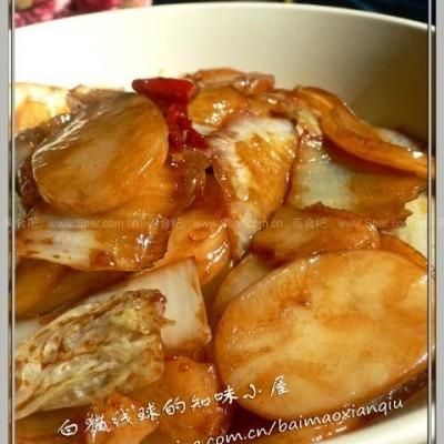 酸辣白菜炒年糕的做法
