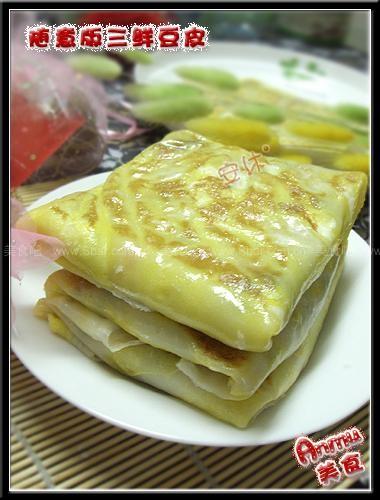 三鲜豆皮的做法 三鲜豆皮的家常做法 三鲜豆皮怎么做 武汉小吃