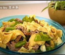 干豆腐炒肉的做法