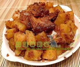 荷叶粉蒸土豆的做法