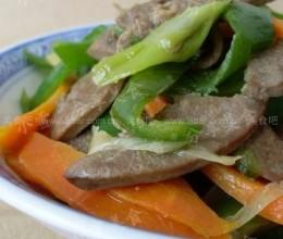 胡萝卜炒羊肝的做法
