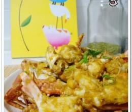 咸蛋黄炒蟹的做法