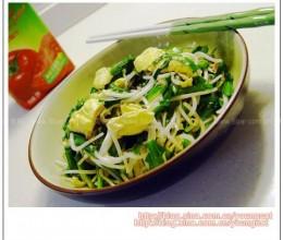 银芽韭菜炒鸡蛋