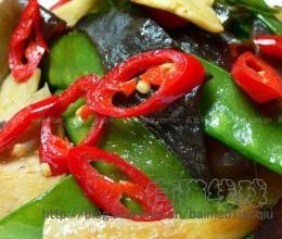 鲍鱼菇炒荷兰豆的做法