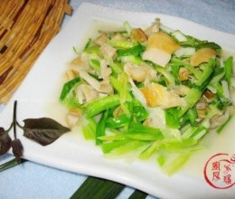 香葱蛤蜊肉的做法
