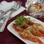蒜香烤虾,黑胡椒烤蒜的做法