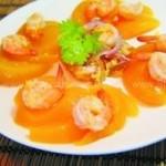 水蜜桃鲜虾的做法