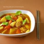 咖喱肉丸汤(暖心暖胃的汤汤水水)
