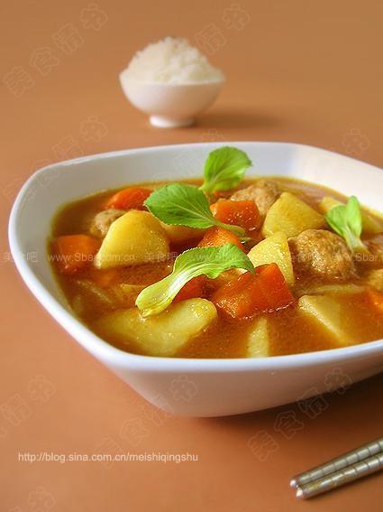 咖喱肉丸汤