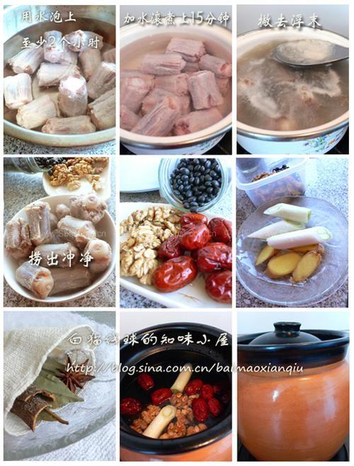 黑豆牛尾汤的做法