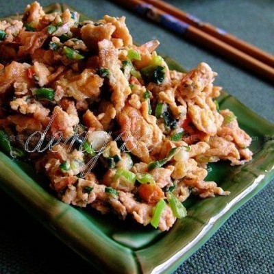 葱花鸡蛋炒虾头酱的做法