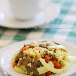 洋葱牛肉抓抓饭(电饭锅食谱)