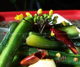 炝炒红菜苔的做法