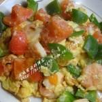 番茄滑蛋虾(荤素搭配)