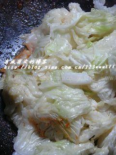 虾油炒白菜叶