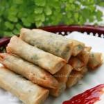 荠菜春卷(春节家宴菜)