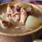 猪尾白萝卜汤(湖南腊肉)