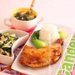 黑椒烤鸡腿饭(午饭套餐)