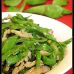 肉丝炒扁豆(荤素搭配)
