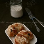 燕麦蜜豆面包(早餐食谱)