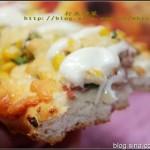 奶酪培根玉米沙拉面包(早餐食谱)