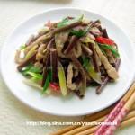 蕨菜肉丝(荤素搭配)