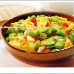 剁椒蚕豆米(剁椒蚕豆炒鸡蛋)
