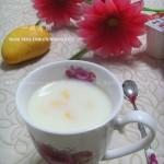 芒果奶昔(自制饮料-教你一个简单取芒果肉的方法)