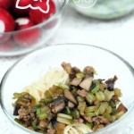 芹菜蘑菇肉末卤(吃面必备的一碗肉末卤)