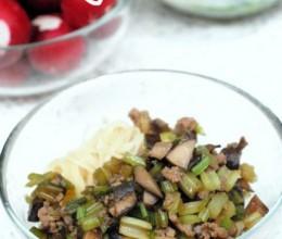 芹菜蘑菇肉末卤