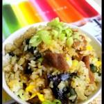 皮蛋里脊炒饭(早餐食谱)