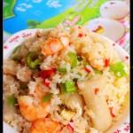 东南亚海鲜炒饭(早餐食谱)