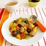 菠萝话梅鸡块(开胃菜)
