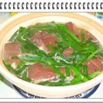 韭菜豬紅煲(韭菜煲豬血)